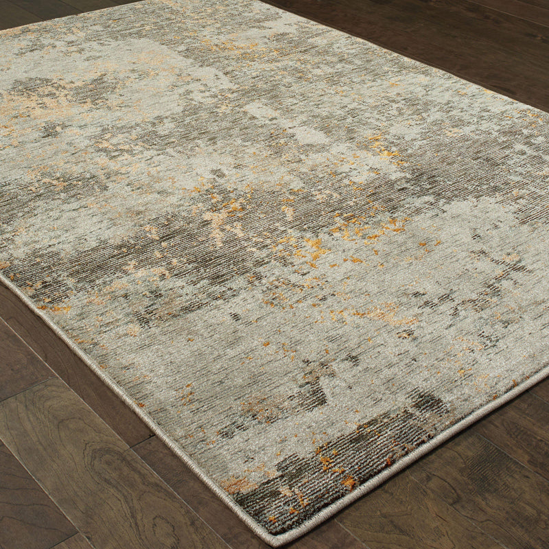 Evolution - 8025B - Grey/Gold-Area Rug-Oriental Weavers-The Rug Truck