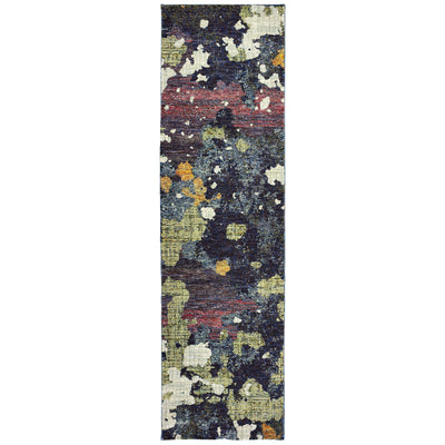 Evolution - 8029A - Navy/Green-Area Rug-Oriental Weavers-The Rug Truck