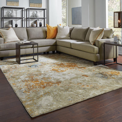 Evolution - 8031B - Gold/Beige-Area Rug-Oriental Weavers-The Rug Truck