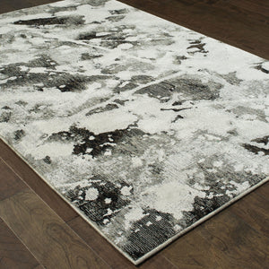 Evolution - 8035B - Charcoal/White-Area Rug-Oriental Weavers-The Rug Truck