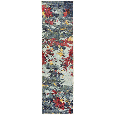 Evolution - 8036C - Blue/Red-Area Rug-Oriental Weavers-The Rug Truck