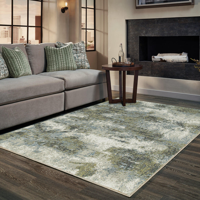 Evolution - 8039E - Blue/Green-Area Rug-Oriental Weavers-The Rug Truck