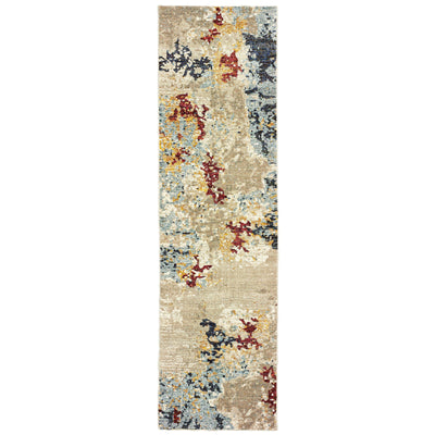 Evolution - 8043K - Beige/Blue-Area Rug-Oriental Weavers-The Rug Truck