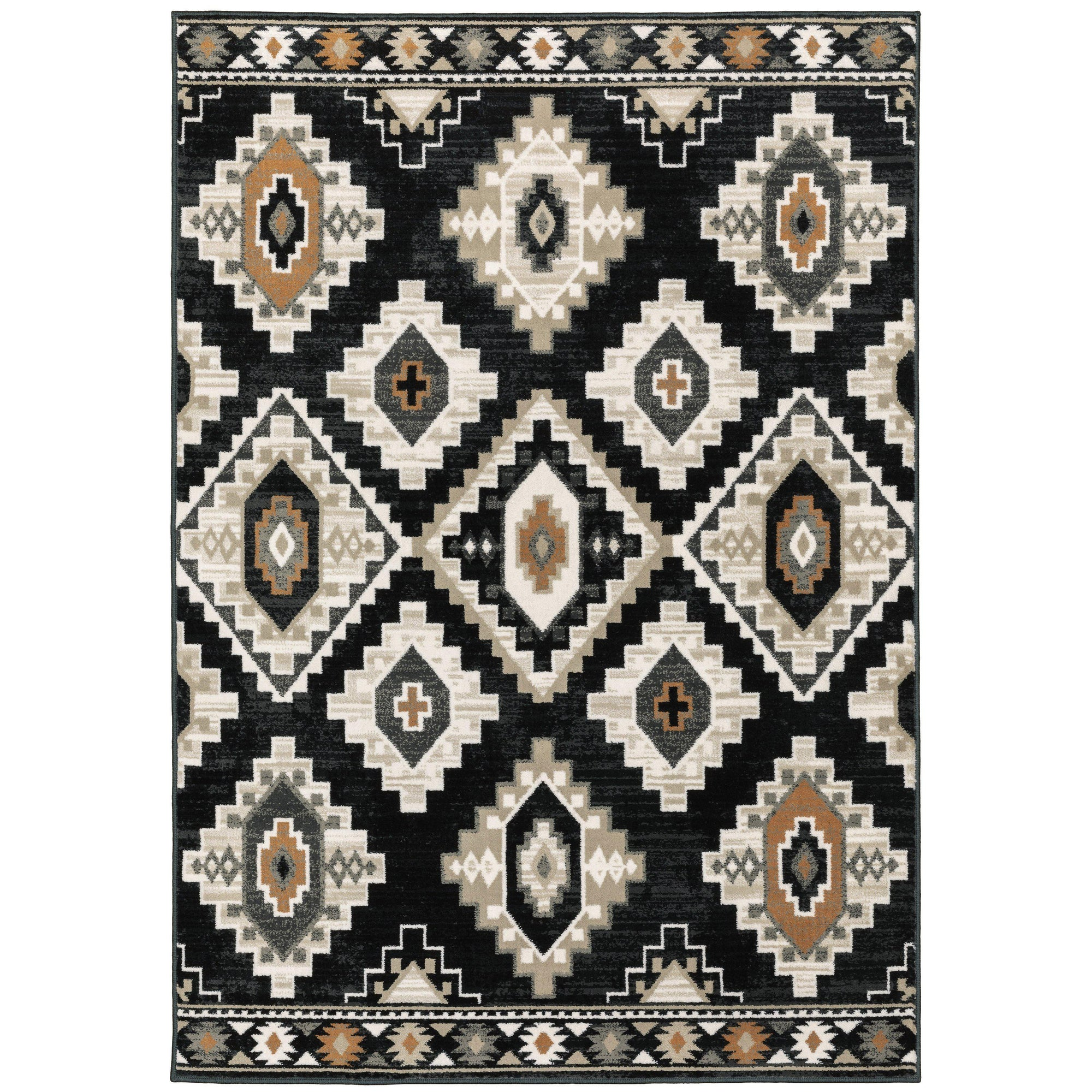 "The Rug Truck Savannah 605f Charcoal Area Rug (7'10"" X 10')"