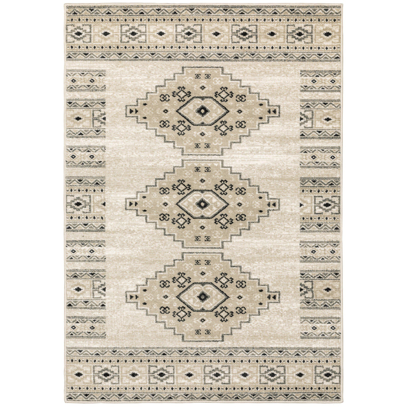 "The Rug Truck Savannah 643a Ivory Area Rug (7'10"" X 10')"