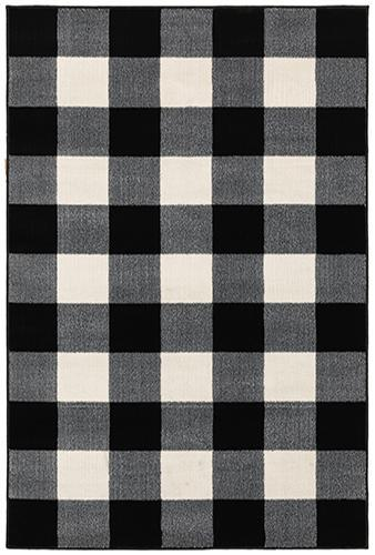 "The Rug Truck Savannah 678d Black Area Rug (7'10"" X 10')"