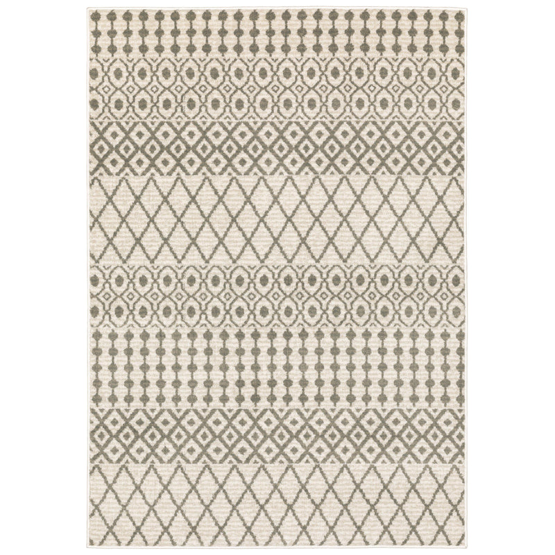 "The Rug Truck Savannah 717b Ivory Area Rug (7'10"" X 10')"