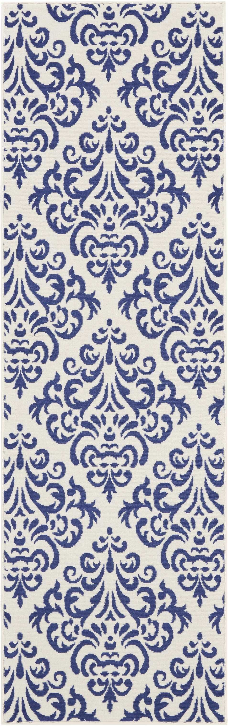 Grafix GRF06 White Blue Area Rug-Area Rug-Nourison-The Rug Truck