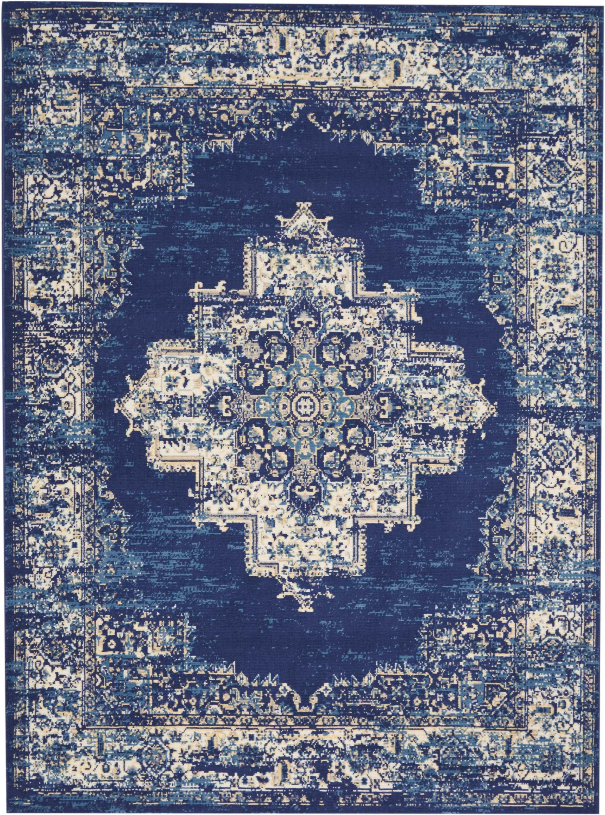 Grafix GRF14 Navy Blue Area Rug-Area Rug-Nourison-The Rug Truck