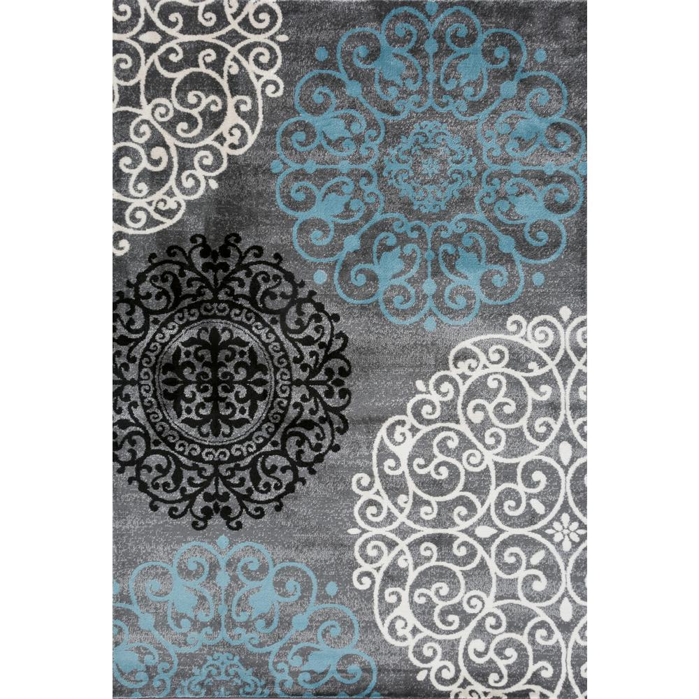 Toscana 303 Gray Area Rug-Area Rug-World Rug Gallery-2' x 3'-The Rug Truck