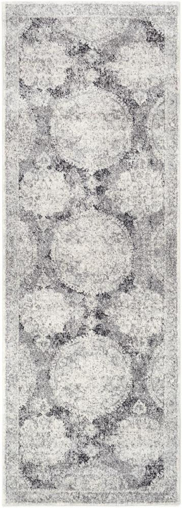 "Harput HAP-1041 Light Gray Area Rug-Area Rug-Surya-2'7"" x 7'3""-The Rug Truck"