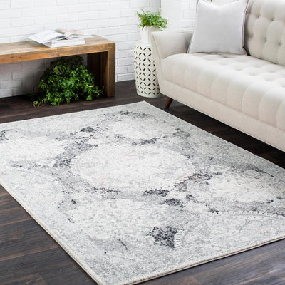 Harput HAP-1041 Light Gray Area Rug-Area Rug-Surya-The Rug Truck