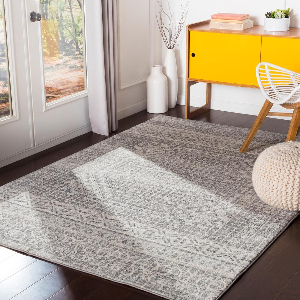Harput HAP-1080 Light Gray Area Rug-Area Rug-Surya-2' x 3'-The Rug Truck