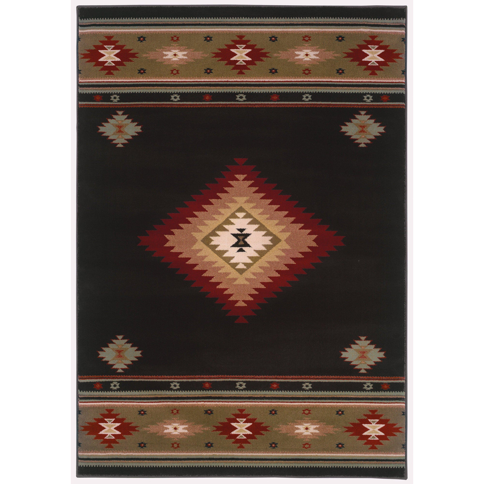The Rug Truck Bridger 87g Black Area Rug (10' X 13')
