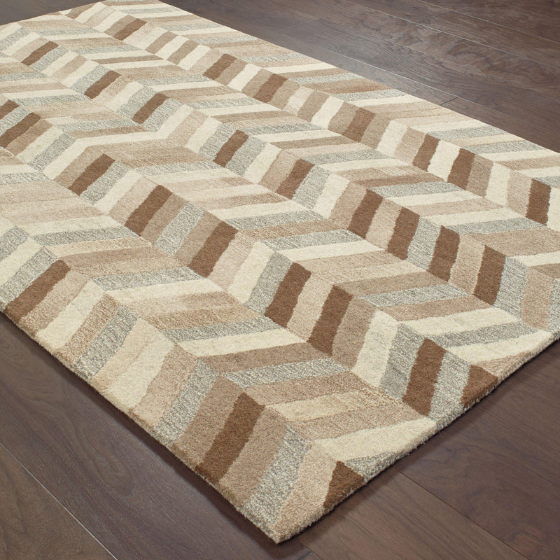 "Infused - 67005 - Beige/Grey-Area Rug-Oriental Weavers-3' 6"" X 5' 6""-The Rug Truck"