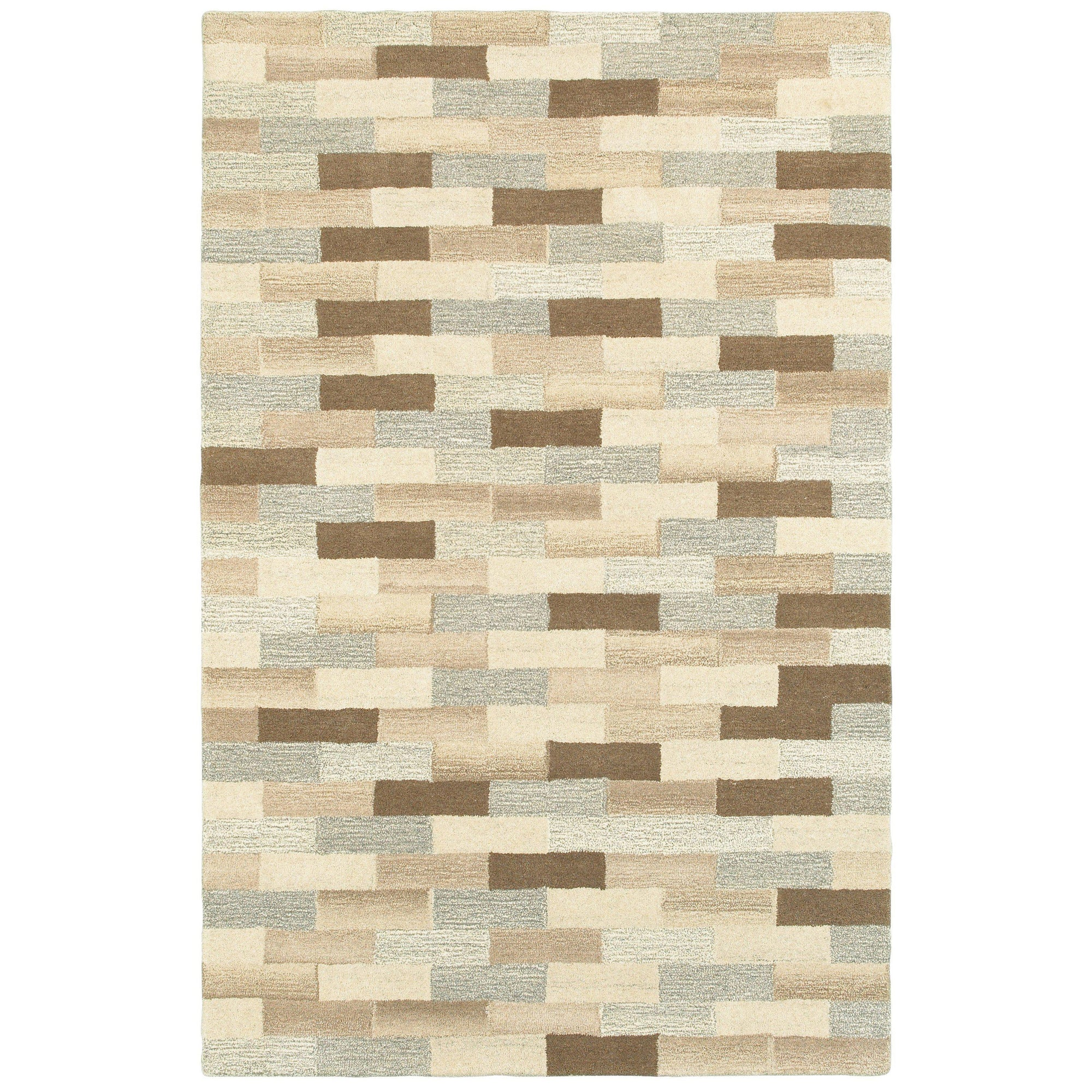 "Infused - 67006 - Beige/Grey-Area Rug-Oriental Weavers-3' 6"" X 5' 6""-The Rug Truck"