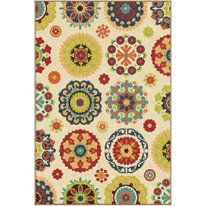 "Alfresco Hubbard White-Area Rug-The Rug Truck-3'10"" x 5'5""-The Rug Truck"
