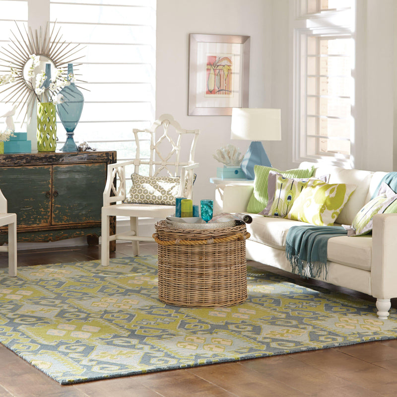 "Tommy Bahama Home Jamison 53304 Blue/Green-Area Rug-Tommy Bahama Home-3' 6"" X 5' 6""-The Rug Truck"
