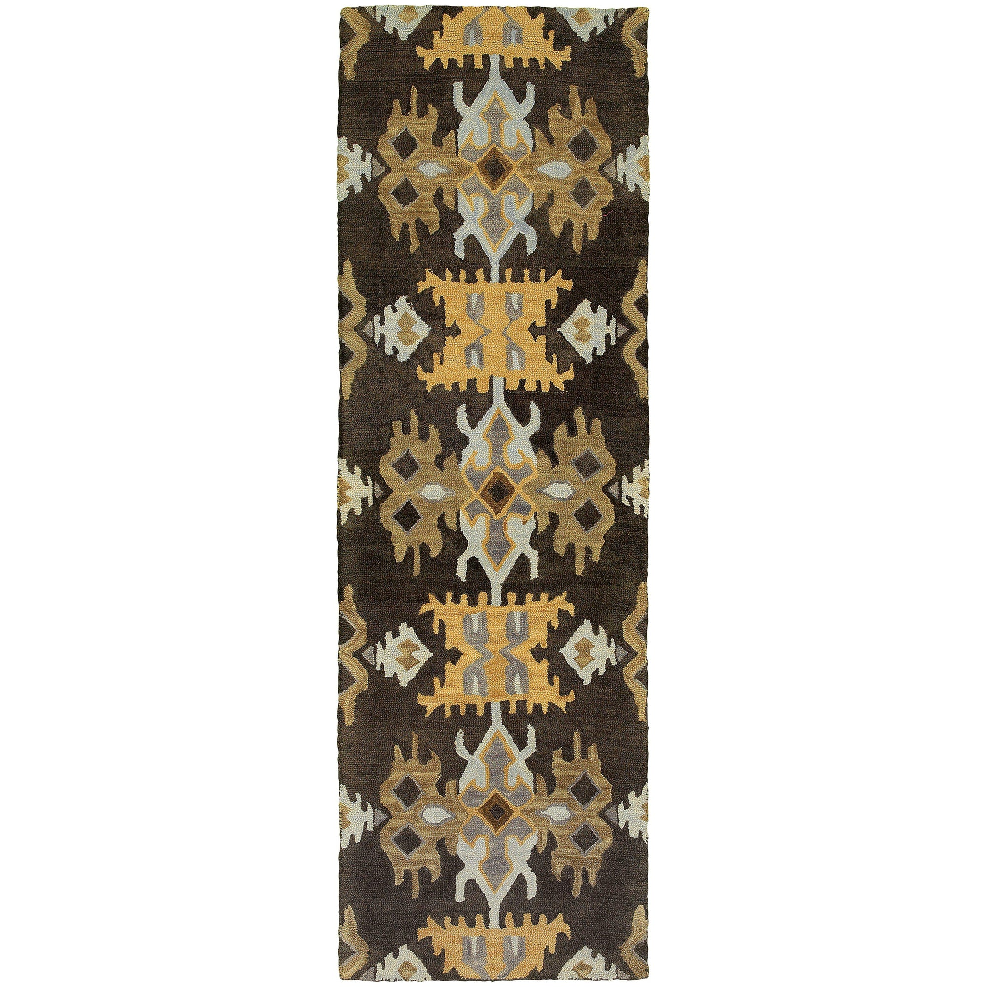 "Tommy Bahama Home Jamison 53305 Black/Gold-Area Rug-Tommy Bahama Home-3' 6"" X 5' 6""-The Rug Truck"