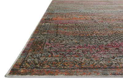 Javari JV-02 Charcoal / Sunset-Area Rug-Loloi-The Rug Truck