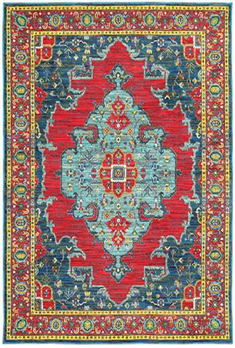 "The Rug Truck Jaimini 1331s Blue Area Rug (7'10"" X 10'10"")"