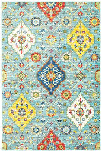"The Rug Truck Jaimini 4929l Blue Area Rug (7'10"" X 10'10"")"