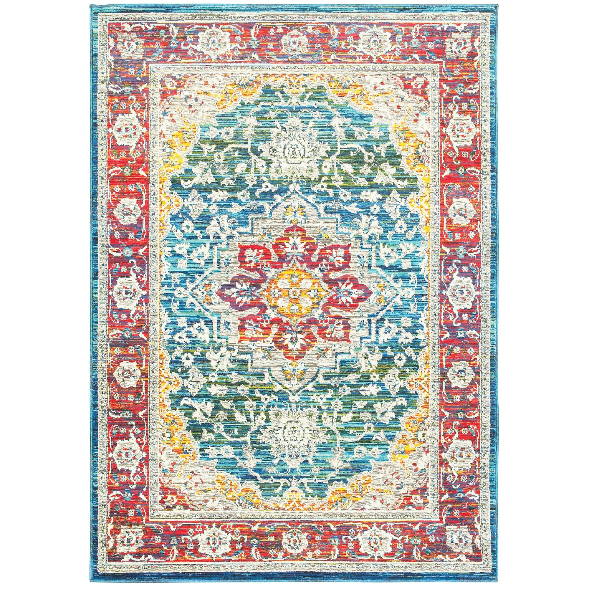 "The Rug Truck Jaimini 502x Red Area Rug (7'10"" X 10'10"")"