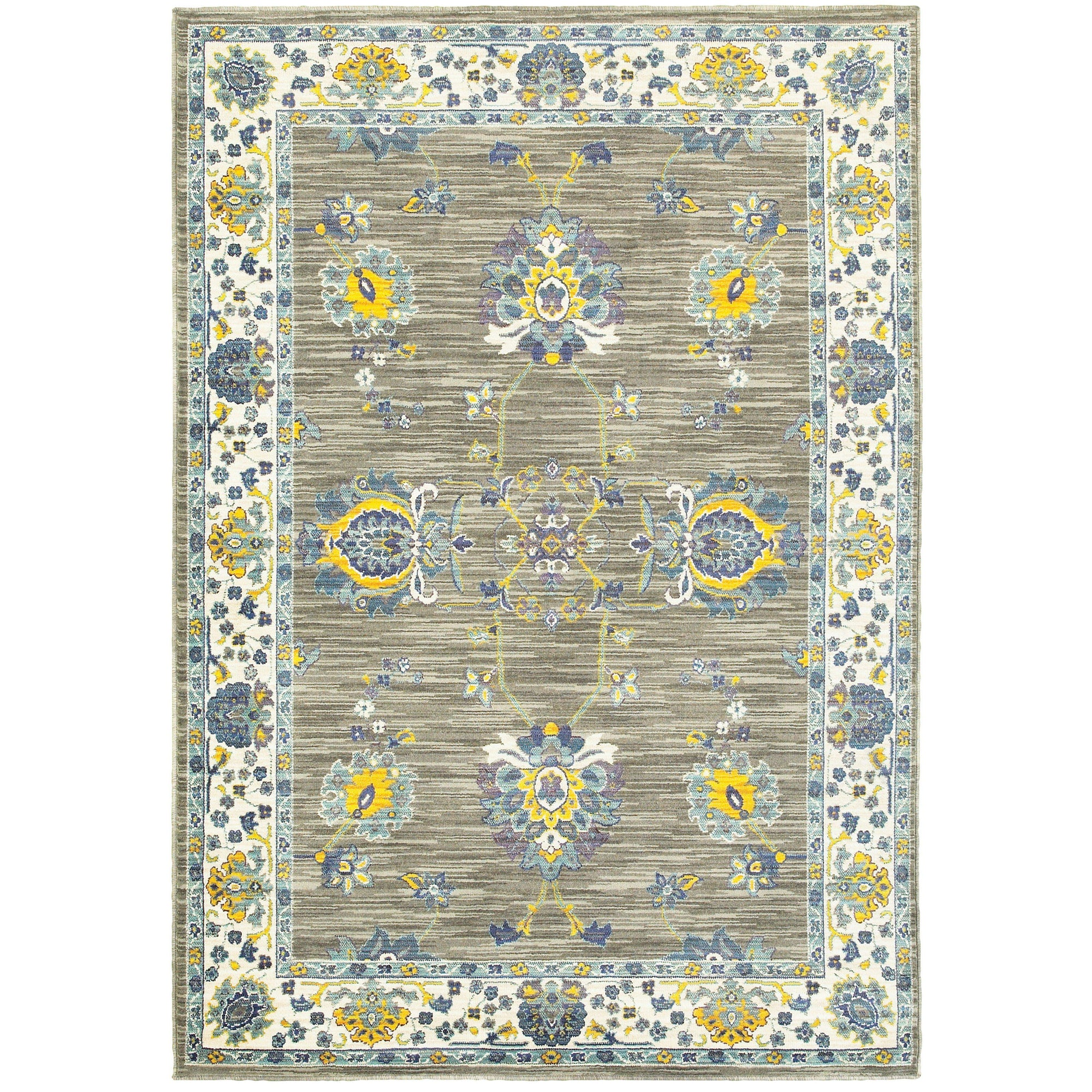 "The Rug Truck Jaimini 503d Grey Area Rug (7'10"" X 10'10"")"