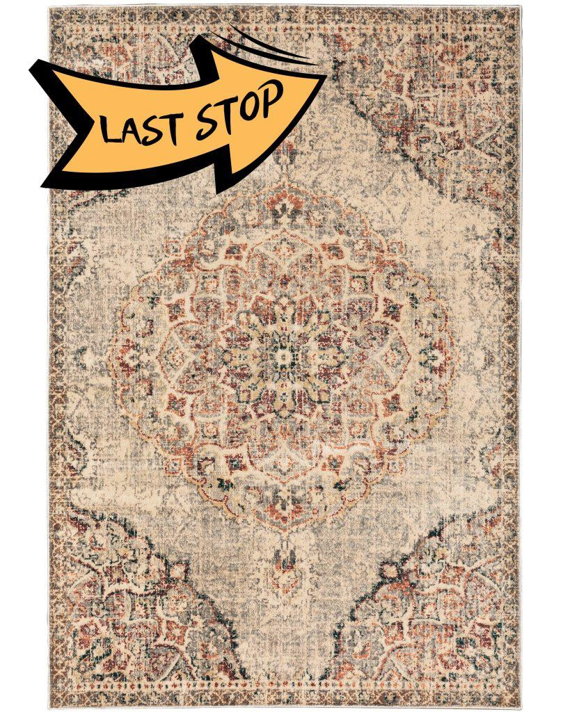Juliette 2803H Grey/rust 110 X 7 6 Area Rug