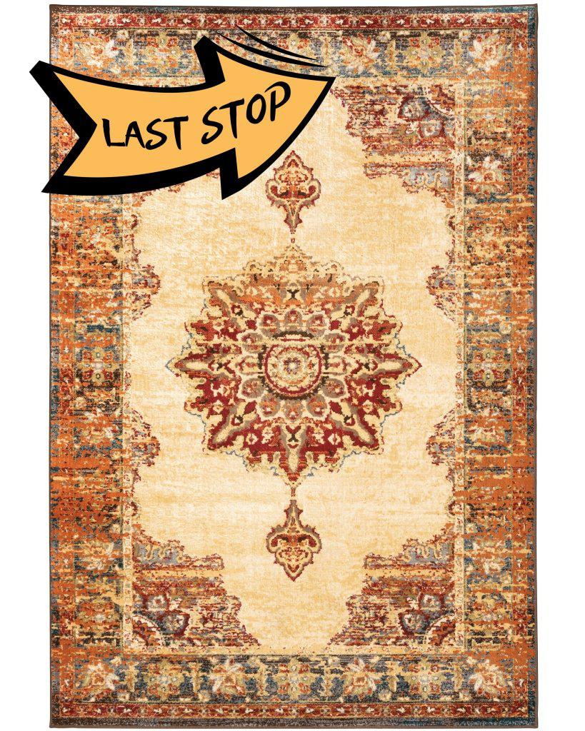 Juliette 8120W Gold/orange 110 X 7 6 Area Rug