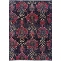 "Kaleidoscope - 1140V - Charcoal/Pink-Area Rug-Oriental Weavers-4' 0"" X 5' 9""-The Rug Truck"