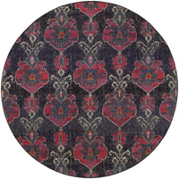 Kaleidoscope - 1140V - Charcoal/Pink-Area Rug-Oriental Weavers-The Rug Truck