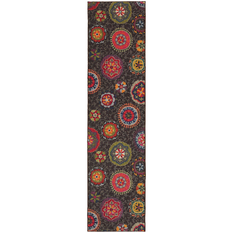 "Kaleidoscope - 1333N - Charcoal/Multi-Area Rug-Oriental Weavers-4' 0"" X 5' 9""-The Rug Truck"