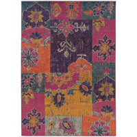 "Kaleidoscope - 2060V - Multi/Pink-Area Rug-Oriental Weavers-4' 0"" X 5' 9""-The Rug Truck"