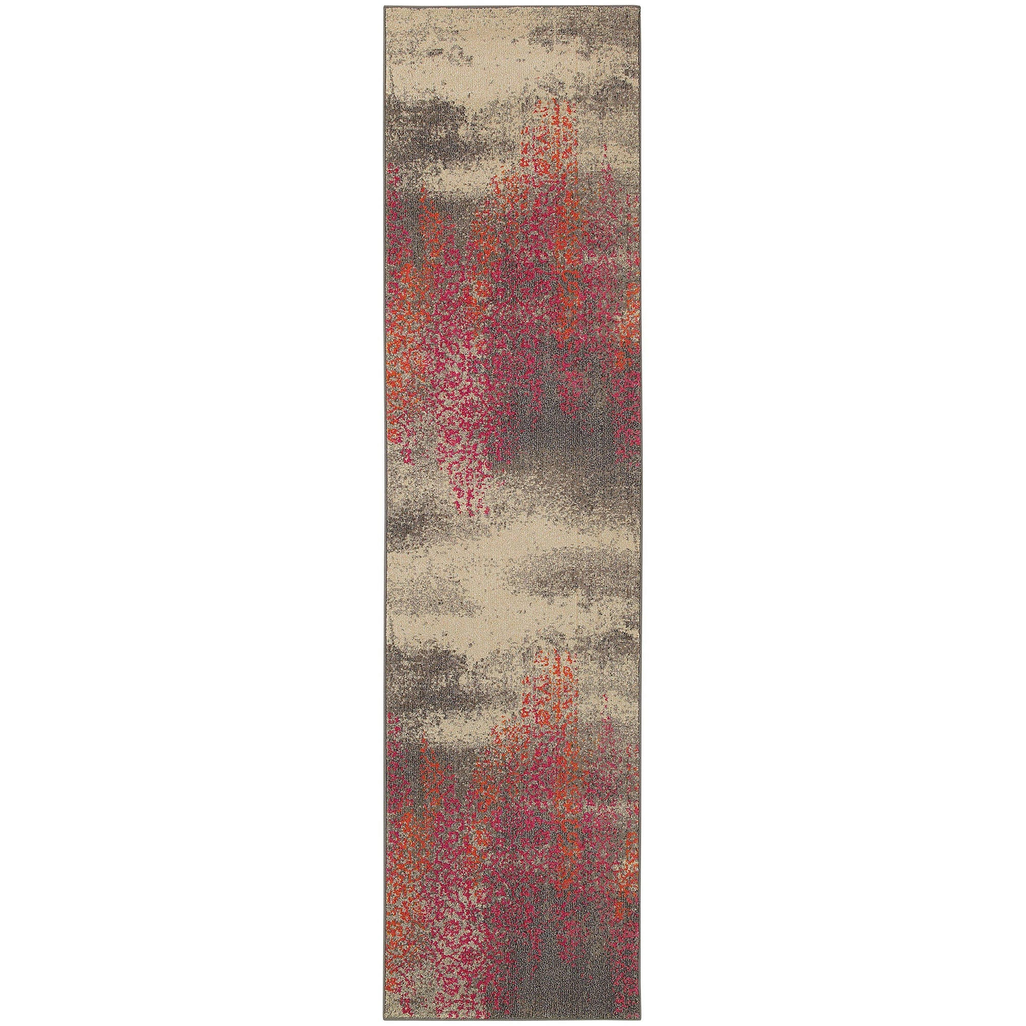 "Kaleidoscope - 504J5 - Grey/Pink-Area Rug-Oriental Weavers-4' 0"" X 5' 9""-The Rug Truck"
