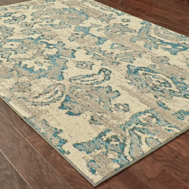 "Kaleidoscope - 8023Y - Ivory/Blue-Area Rug-Oriental Weavers-4' 0"" X 5' 9""-The Rug Truck"