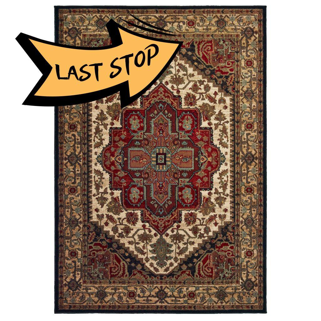 Laurel 5100C Black/multi 3 X 5 Area Rug
