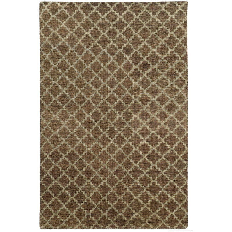 "Tommy Bahama Home Maddox 56503 Brown/Blue-Area Rug-Tommy Bahama Home-3' 6"" X 5' 6""-The Rug Truck"