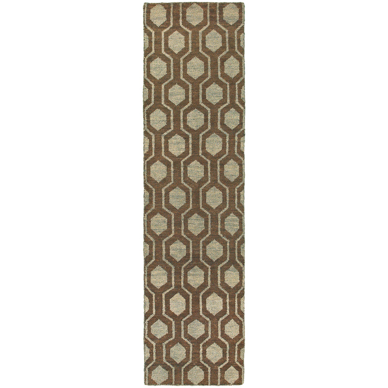 "Tommy Bahama Home Maddox 56504 Brown/Blue-Area Rug-Tommy Bahama Home-3' 6"" X 5' 6""-The Rug Truck"