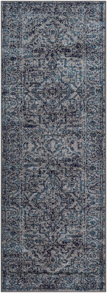 "Monte Carlo MNC-2301 Navy Area Rug-Area Rug-Surya-2'7"" x 7'3""-The Rug Truck"