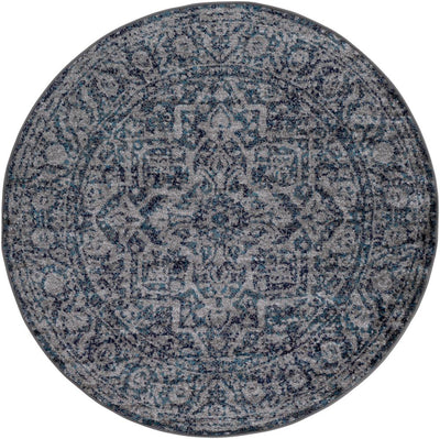 "Monte Carlo MNC-2301 Navy Area Rug-Area Rug-Surya-5'3"" Round-The Rug Truck"