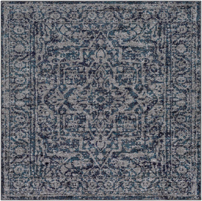 "Monte Carlo MNC-2301 Navy Area Rug-Area Rug-Surya-5'3"" Square-The Rug Truck"
