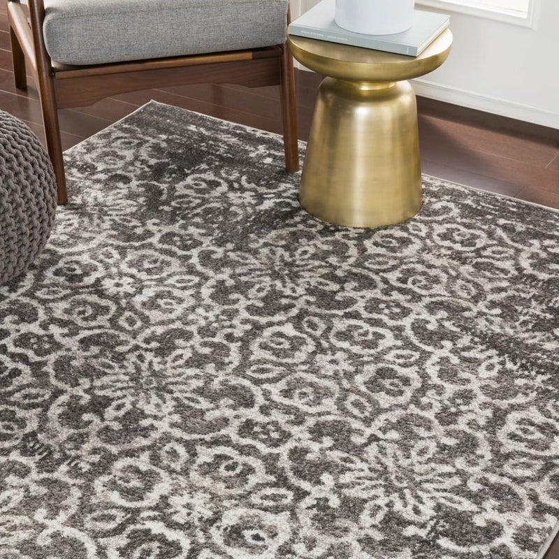 "Monte Carlo MNC-2305 Charcoal Area Rug-Area Rug-Surya-3'11"" x 5'7""-The Rug Truck"