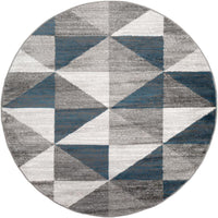 "Monte Carlo MNC-2307 Light Gray Area Rug-Area Rug-Surya-5'3"" Round-The Rug Truck"