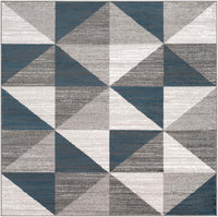 "Monte Carlo MNC-2307 Light Gray Area Rug-Area Rug-Surya-5'3"" Square-The Rug Truck"