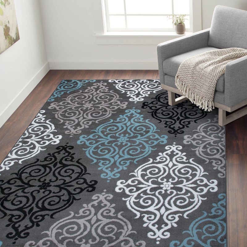Alpine 111 Gray Area Rug-Area Rug-World Rug Gallery-2' x 3'-The Rug Truck