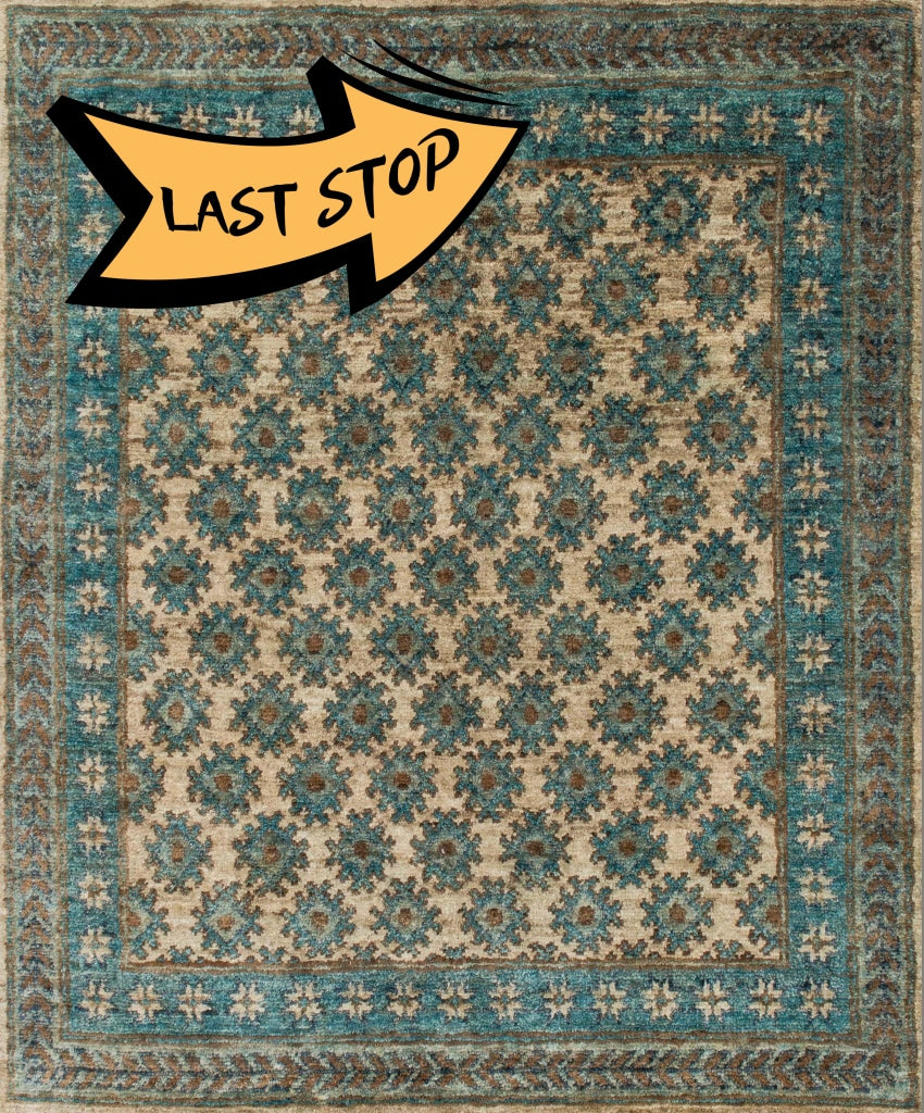 "Nomad NM-01 Beige / Ocean Area Rug-Area Rug-Loloi-2'-0"" x 3'-0""-The Rug Truck"