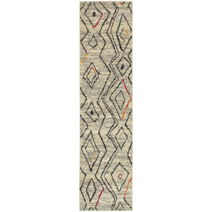 Nomad - 2162W - Ivory/Multi-Area Rug-Oriental Weavers-The Rug Truck