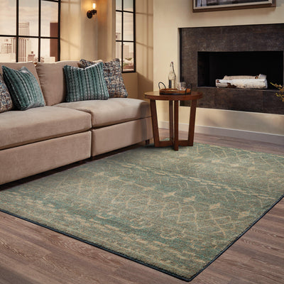 Nomad - 2163F - Blue/Beige-Area Rug-Oriental Weavers-The Rug Truck
