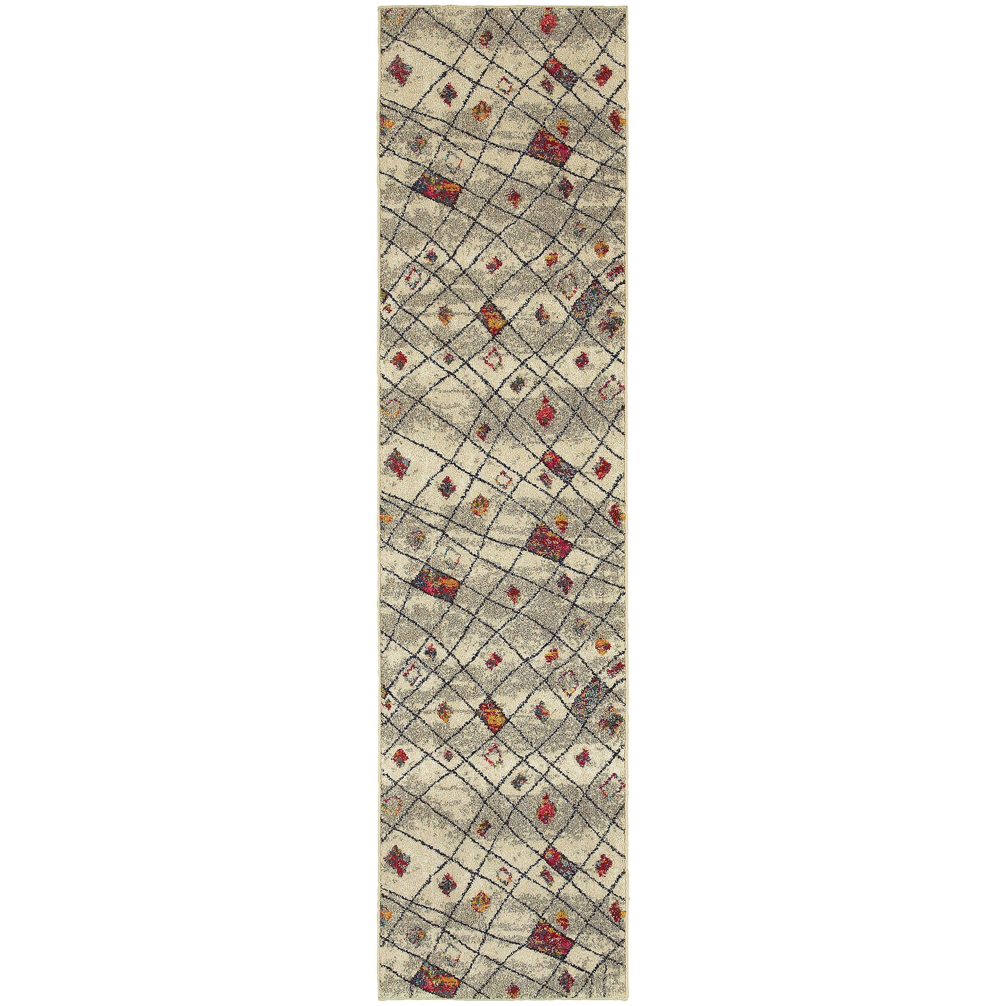"Nomad - 4330W - Ivory/Multi-Area Rug-Oriental Weavers-4' 0"" X 5' 9""-The Rug Truck"